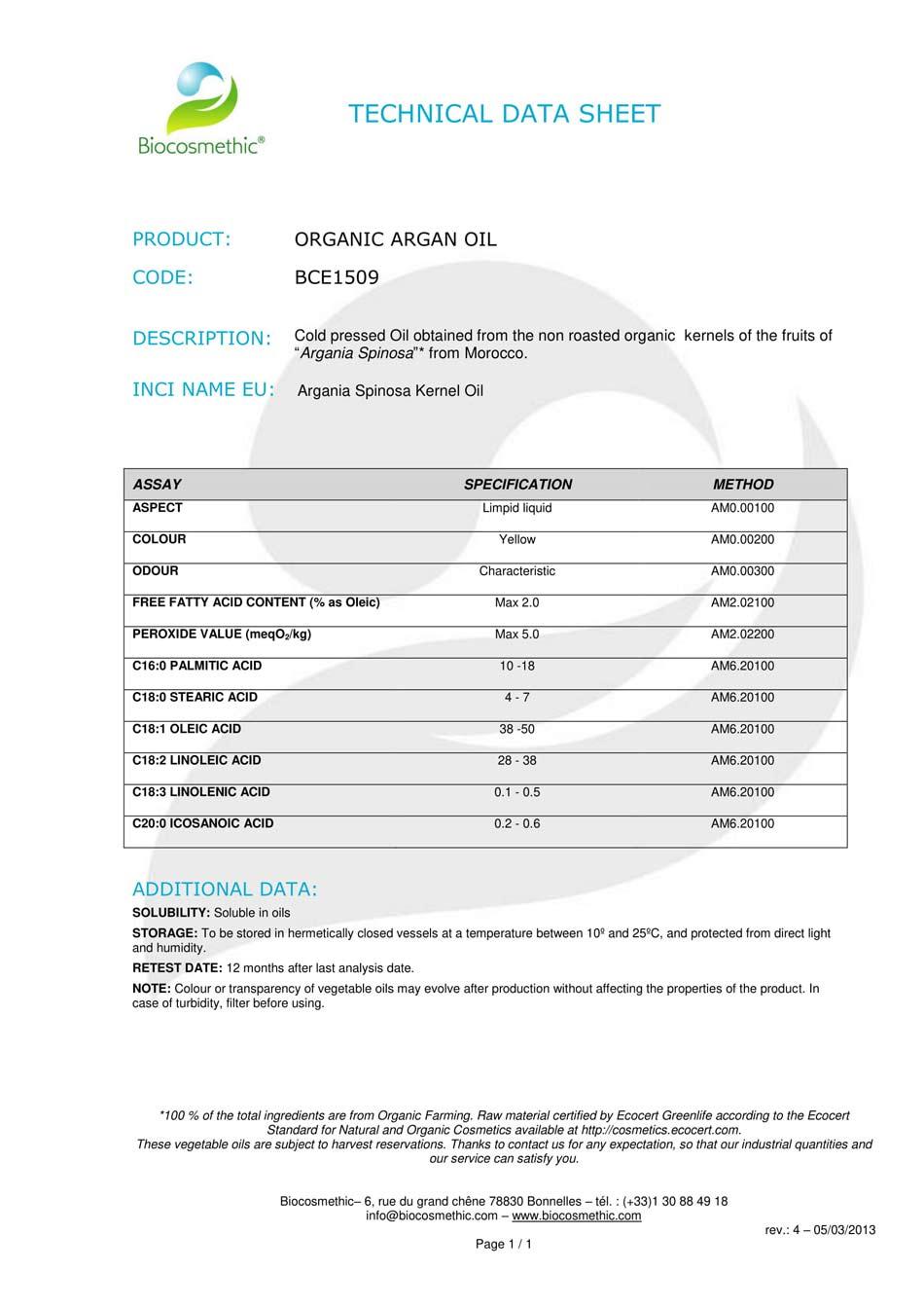 Argan Yağı Organik Sertifikası